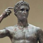 Bronze Statue of a Victorious Youth, at the Getty Villa in Malibu