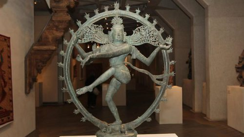 The 900-year-old bronze Dancing Shiva (Shiva Nataraja)  returned by the National Gallery of Australia to India in 2014