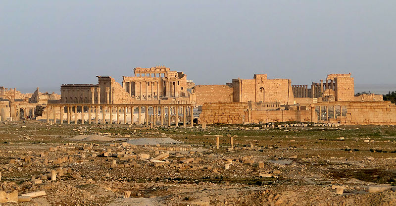 Thge Temple of Bel complex in Palmyra Syria, taken in 2010, one of the best-known at-risk sites in Syria
