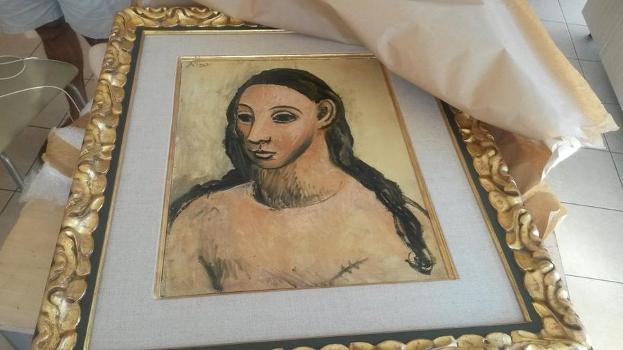 """""""Head of a Young Woman"""" by Pablo Picasso was seized by French customs officials on the island of Corsica"""