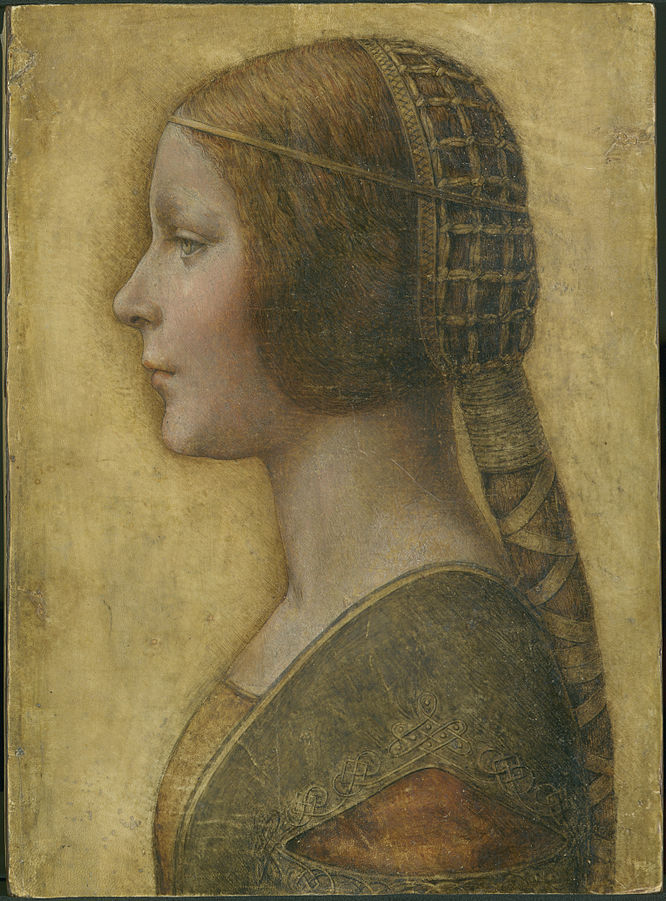 """""""Profile of a Young Fiancee""""  Licensed under Public Domain via Commons - https://commons.wikimedia.org/wiki/File:Profile_of_a_Young_Fiancee_-_da_Vinci.jpg#/media/File:Profile_of_a_Young_Fiancee_-_da_Vinci.jpg"""